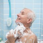Senior-bathing